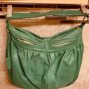 Green DKNY Hobo handbag